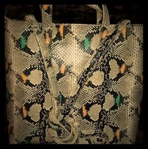 Limited Edition Madewell Snakeskin Tote